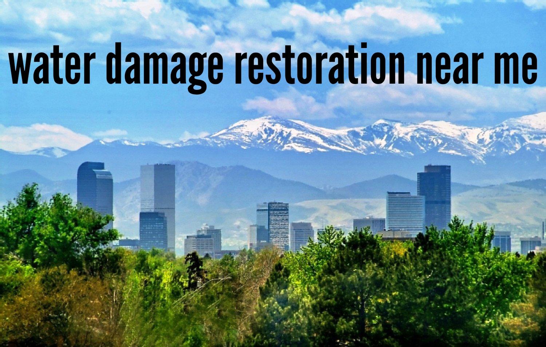 Water damage restoration near me