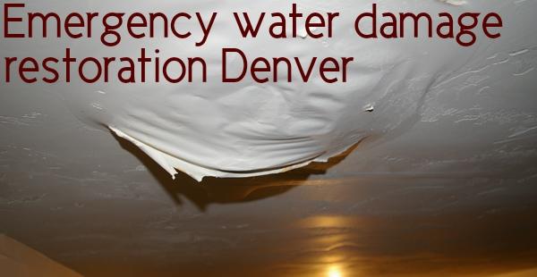 Emergency water damage restoration Denver