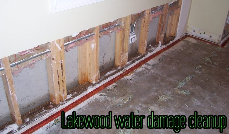 Lakewood water damage cleanup