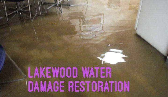 Lakewood water damage restoration