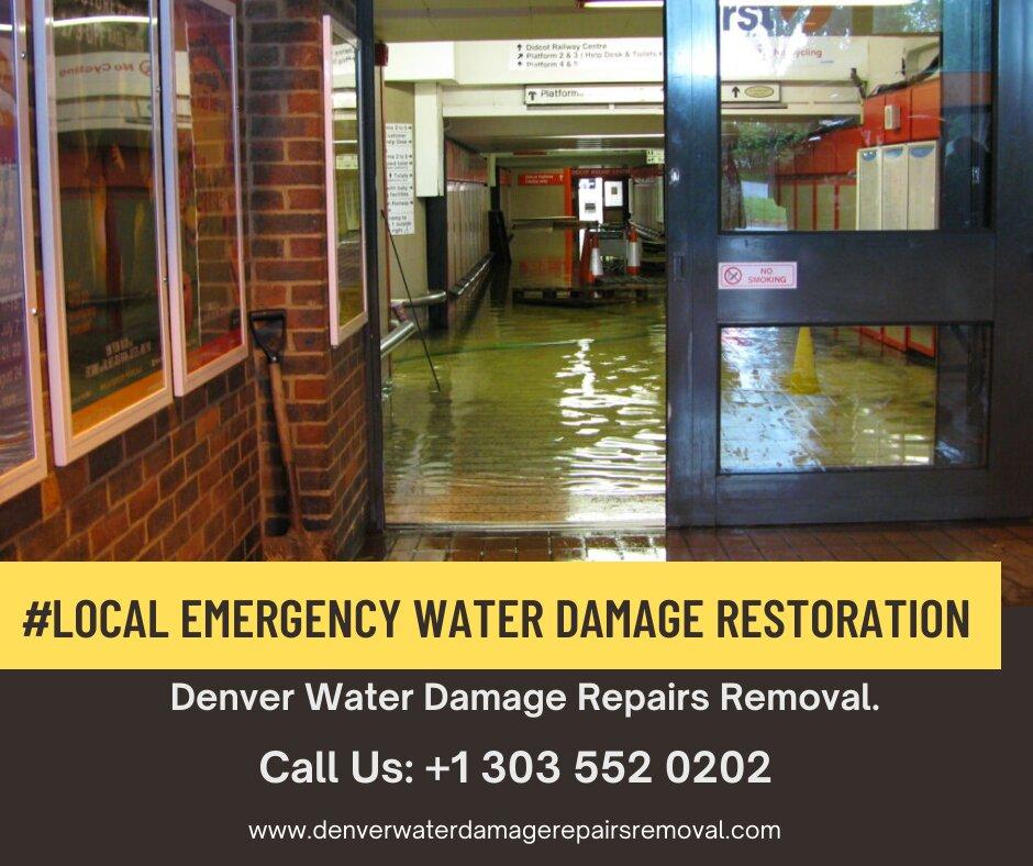 Local Emergency Water Damage Restoration in Denver Colorado